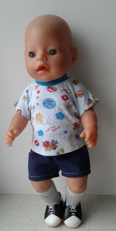 Футболка и шорты для пупса беби борн (baby born) мальчика ручной работы на заказ