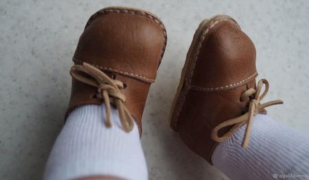 Ботиночки для беби Анабель (Baby Annabell) из натуральной кожи ручной работы на заказ