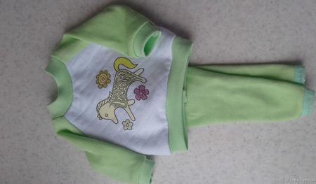 Комплект трикотажной одежды для куклы Сой ту паола рейна ручной работы на заказ