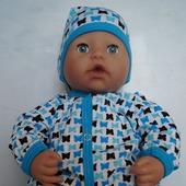 Комбинезон и шапочка для беби Анабель 46 см