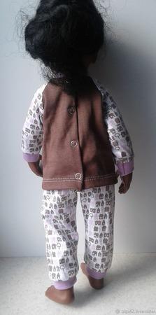 Трикотажная пижамка для куклы ГОТЦ ручной работы на заказ
