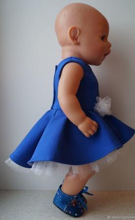 Нарядное платье для беби бона (baby born) ручной работы на заказ