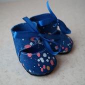 Туфельки из натуральной замши для беби бона ( baby born )