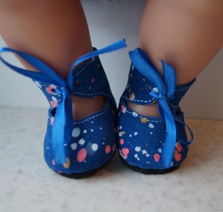 Туфельки из натуральной замши для беби бона ( baby born ) ручной работы на заказ