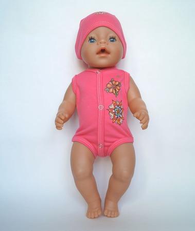 Боди и шапочка для беби бон (baby born) ручной работы на заказ