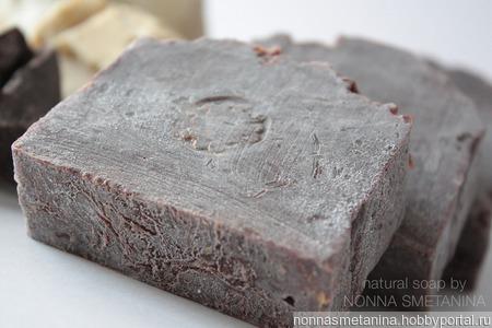 """Мыло натуральное """"Брауни"""", с шоколадом ручной работы на заказ"""