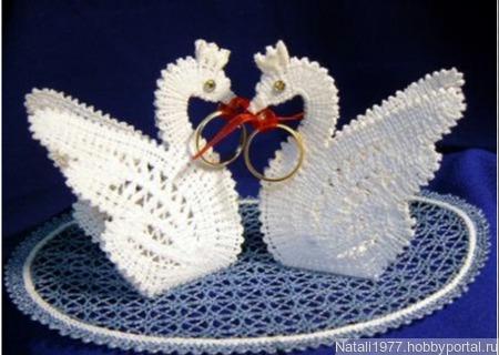 Свадебные лебеди ручной работы на заказ