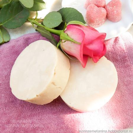 """Шампуневое мыло натуральное """"Роза"""" ручной работы на заказ"""
