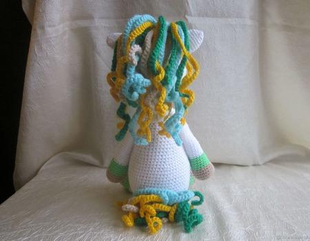 Вязаная крючком Единорожка Друг для малышей ручной работы на заказ