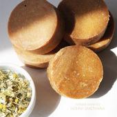 Шампуневое мыло натуральное с ромашкой для сухих и ослабленных волос