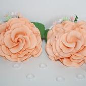 """Резиночки """" Персиковые розы"""""""