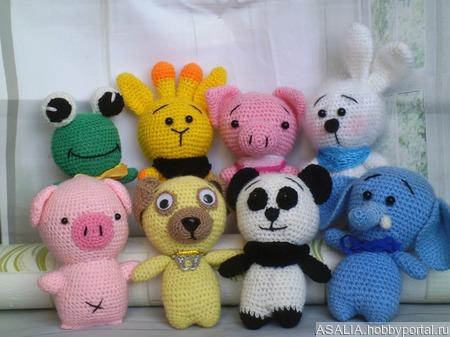 Набор  игрушк-Зоопарк ручной работы на заказ