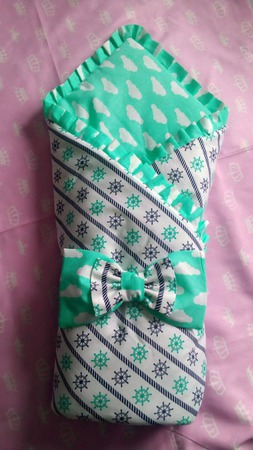 Одеяло на выписку ручной работы на заказ