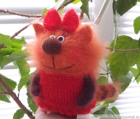 Карамелька. кошечка из мультфильма Три кота. подарок. сувенир ручной работы на заказ