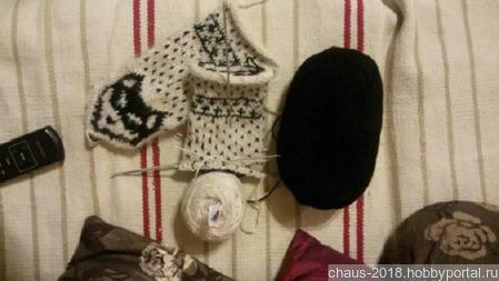 Варежки из шерсти сибирских хаски ручной работы на заказ