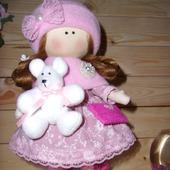 Куколка Аллочка с медвежонком