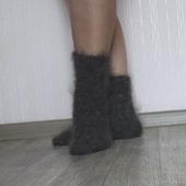 """Носки пуховые""""Зимушка-5""""-вязанные,теплые."""