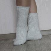 """Носки шерсть с пухом""""Зимушка - 4""""-вязанные,теплые."""