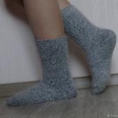 """Носки шерсть с пухом""""Зимушка - 2""""-вязанные,теплые."""