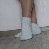 Носки  укороченные шерсть с пухом