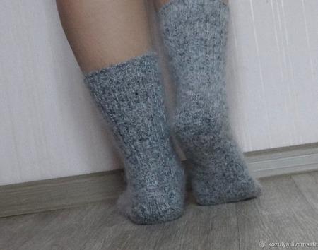 """Носки шерсть с пухом""""Зимушка - 2""""-вязанные,теплые. ручной работы на заказ"""
