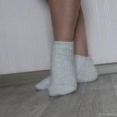 Носки  укороченные шерсть с пухом -вязанные,теплые.