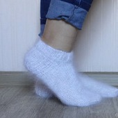 Носки  укороченные -вязанные,теплые.Козий пух.