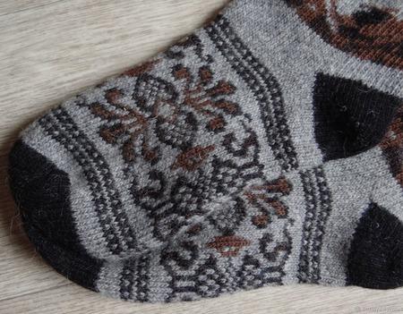 """Носки шерстяные вязаные, тёплые  """"В подарок мужчине"""" ручной работы на заказ"""
