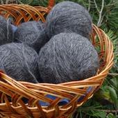 Пуховая пряжа ручного прядения - козий пух с коз придонской породы Р1