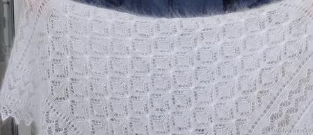 """Пуховая шаль-паутинка """"Подарок любимым""""№54 ручной работы на заказ"""