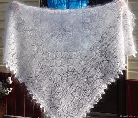 Пуховая шаль-паутинка №52 ручной работы на заказ