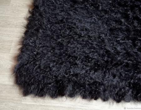 """Пуховый, вязанный  платок """"Чёрный принц"""" ручной работы на заказ"""