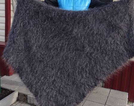 Большой платок пуховый ручной работы на заказ