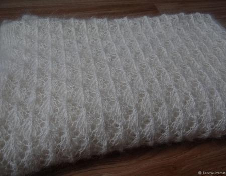 Плед детский-пуховый,одеяло,покрывало,большой платок. ручной работы на заказ