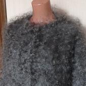 Пуховая кофта,жакет -тёплая,пушистая.Зимняя мода.