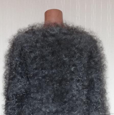 Пуховая кофта,жакет -тёплая,пушистая.Зимняя мода. ручной работы на заказ