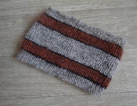Вязанная пуховая повязка на голову ручной работы на заказ