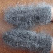 Варежки-рукавички  пуховые  вязанные козий пух.