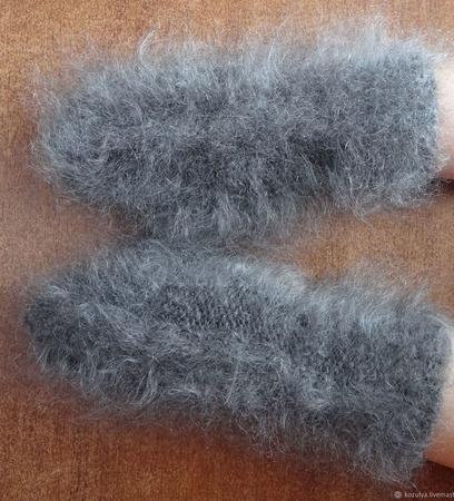 Варежки-рукавички  пуховые  вязанные козий пух. ручной работы на заказ