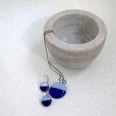 Комплект украшений серьги кулон из стекла Кругленькие 2