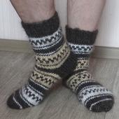 """Носки мужские пуховые тёплые """"Подарок любимому- 3"""""""