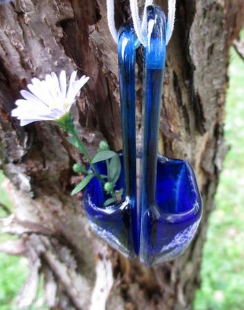 Подвески из цветного стекла Тапочки. Декор для дома. Фьюзинг ручной работы на заказ