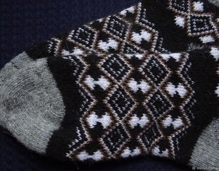 """Носки  укороченные шерстяные -вязанные,теплые """"НОВОГОДНИЙ ПОДАРОК 4"""" ручной работы на заказ"""