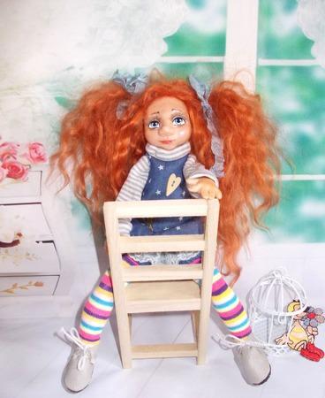 """Алла. Аллочка. Кукла авторская., коллекционная. Из серии """"Натусики"""". ручной работы на заказ"""