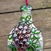 Стеклянный декор для дома дачи Веселые бутылки. Фьюзинг