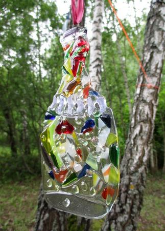 Стеклянный декор для дома дачи Веселые бутылки. Фьюзинг ручной работы на заказ