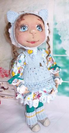 Кэти. Кэт. Катюшка. Кошечка.Кукла авторская. Кукла текстильная. ручной работы на заказ