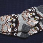 """Носки шерстяные- вязанные-тёплые  """" Подарок на Новый год """""""