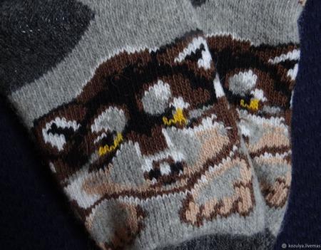 """Носки шерстяные- вязанные-тёплые  """" Подарок на Новый год """" ручной работы на заказ"""