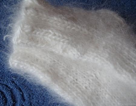 Пуховые детские носочки-тёплые, вязанные. ручной работы на заказ